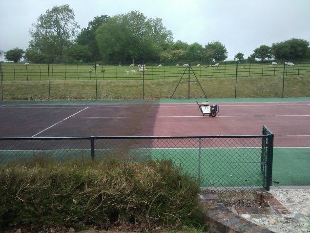 Re-Colouring Tennis Courts