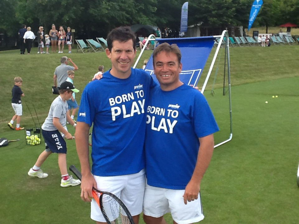 TERRY CLARKE MEETS TIM HENMAN!
